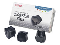 Xerox Genuine Xerox - 3 - noir - encres solides - pour Phaser 8500DN, 8500N, 8550DP, 8550DT, 8550DX 108R00668